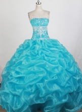 Pretty Ball Gown Strapless Floor-length Quinceanera Dress ZQ12426063