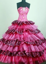 Pretty Ball Gown Strapless Floor-length Quinceanera Dress ZQ12426091