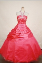 Pretty Ball gown Halter top Floor-length Quinceanera Dresses  Beading Style FA-Z-0062