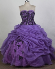 Pretty Ball gown Strapless Floor-length Quinceanera Dresses Style FA-W-r26