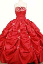 Pretty Ball gown Strapless Floor-length Taffeta Quinceanera Dresses Style FA-W-361