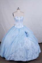 Pretty Ball gown Sweetheart Floor-length Quinceanera Dresses Beading Style FA-Z-0038