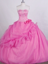 Romantic Ball Gown Sweetheart-neck Floor-length Quinceanera Dresses Style FA-C-078