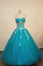 Simple A-line Sweetheart Floor-length Quinceanera Dresses Appliques Style FA-Z-0083