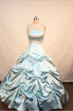 Simple Ball gown Strapless Floor-length Quinceanera Dresses  Style FA-Z-0069