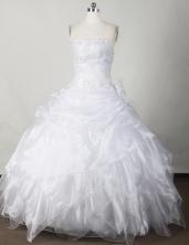 Sweet Ball Gown Strapless Floor-length White Quinceanera Dress LJ2653