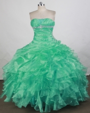 Wonderful Ball gown Strapless Floor-length Quinceanera Dresses Style FA-W-r31