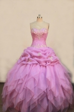 Wonderful Ball gown Sweetheart Floor-length Quinceanera Dresses Embroidery with Beading Style FA-Z-0084