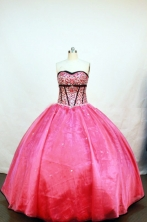 Popular Ball Gown Strapless Floor-length Hot Pink Quinceanera Dresses Style FA-W-015