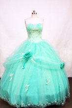 Pretty Ball Gown Strapless Floor-length Apple green Quinceanera Dresses Style FA-W-030