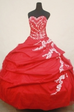 Beautiful Ball Gown SweetheartFloor-length Quinceanera Dresses Appliques Style FA-Z-0206