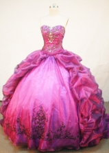 Beautiful Ball Gown SweetheartFloor-length Quinceanera Dresses Embroidery with Beading Style FA-Z-0244