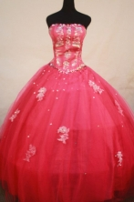 Elegant Ball Gown Strapless Floor-length Quinceanera Dresses Appliques with Beading Style FA-Z-0213
