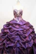 Elegant Ball gown Sweetheart neck Floor-Length Quinceanera Dresses Style FA-Y-169