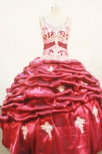 Gorgeous Ball Gown Strap Floor-length Quinceanera Dresses Appliques with Beading Style FA-Z-0220