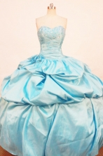 Perfect Ball Gown SweetheartFloor-length Quinceanera Dresses Beading Style FA-Z-0180
