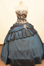 Popular Ball gown Strapless Floor-length Taffeta Quinceanera Dresses Style FA-W-161