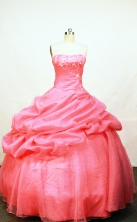 Pretty Ball Gown Strapless Floor-length Organza Quinceanera Dresses Style FA-W-008