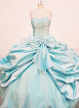Pretty Ball Gown Sweetheart Floor-length Quinceanera Dresses Appliques Style FA-Z-0287