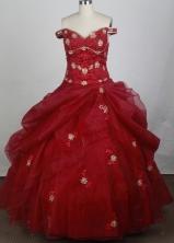 2012 Luxurious Ball Gown Off The Shoulder Nekline Floor-Length Quinceanera Dresses Style JP42610