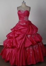 2012 Luxurious Ball Gown Strapless Floor-Length Quinceanera Dresses Style JP42685