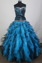 2012 Modest Ball Gown Sweetheart Neck Floor-Length Quinceanera Dresses Style JP42632