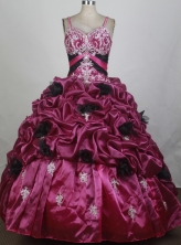 2012 New Ball Gown Straps Floor-Length Quinceanera Dresses Style JP42615