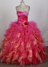2012 New Ball Gown Sweetheart Neck Floor-Length Quinceanera Dresses Style JP42614