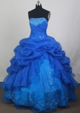 2012 Popular Ball Gown Strapless Floor-Length Quinceanera Dresses Style JP42654