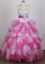 2012 Pretty Ball Gown Sweetheart Neck Floor-Length Quinceanera Dresses Style JP42605