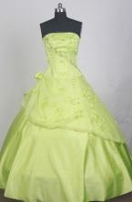 Beautful Ball Gown Strapless Strapless  Floor-length Spring Green Quinceanera Dress LZ426035