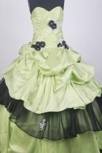 Beautful Ball Gown Sweetheart Neck Floor-length Yellow Green Quinceanera Dress LZ426063
