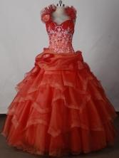 Beautiful Ball Gown Halter Floor-length Pink Quinceanera Dress LJ2651