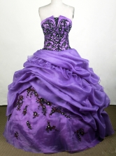 Beautiful Ball Gown Strapless Floor-length Purple Quinceanera Dress Y0426018