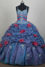 Beautiful Ball Gown Straps Floor-length Quincenera Dresses TD260048