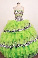 Beautiful Ball Gown Sweetheart Neck Floor-Length Spring Green Beading Quinceanera Dresses Style FA-S-263