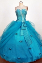 Brand new Ball Gown Sweetheart Neck Floor-Length Blue Beading and Applqiues Quinceanera Dresses Style FA-S-275