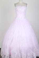 Classical Ball Gown Strapless Floor-length  Quinceanera Dress X0426025