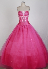 Elegant Ball Gown Strapless Floor-length Quinceanera Dress LZ426015