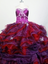 Exclusive Ball Gown Strapless Floor-length Colorful Quinceanera Dress X0426046