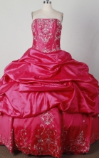 Exclusive Ball Gown Strapless Floor-length RedQuinceanera Dress X0426017