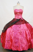Exquisite Ball gown Strapless Floor-Length Quinceanera Dresses Style FA-Y-38