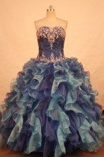 Exquisite Ball gown Strapless Floor-length Quinceanera Dresses Style FA-W-371