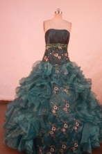 Exquisite Ball gown Strapless Floor-length Quinceanera Dresses Style FA-W-396