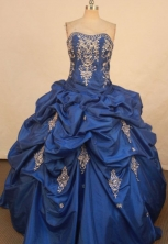 Fashionable Ball Gown Sweetheart Floor-length Quinceanera Dresses Appliques Style FA-Z-0304