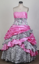 Gorgeous Ball Gown Strapless Floor-length Quinceanera Dress LZ426020