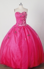 Gorgeous Ball Gown Strapless Floor-length Red Quinceanera Dress   X0426023