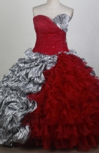 Gorgeous Ball Gown Sweetheart Neck Floor-length Quinceanera Dress LZ426073