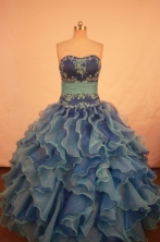 Gorgeous Ball gown Strapless Floor-length Quinceanera Dresses Style FA-W-341