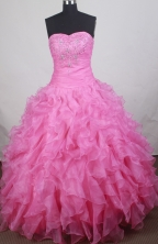 Gorgeous Ball gown Sweetheart-neck Floor-length Quinceanera Dresses Style FA-W-r06